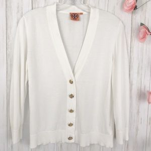 Tory Burch Simone Cotton Cardigan. Size M
